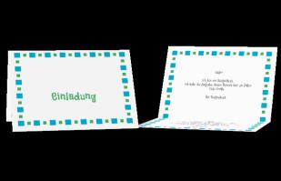 Einladungskarte - Hüpfekästchen