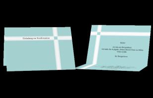 Einladungskarte - Kreuz