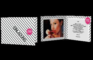 Einladungskarte - Streifenlook