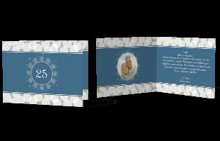 Einladungskarte - Blumenkranz