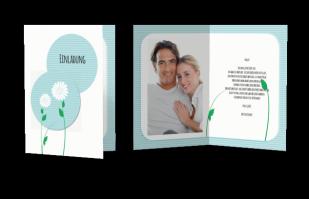 Einladungskarte - Blumenpaar