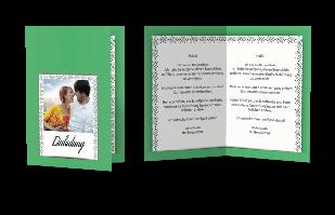 Einladungskarte - Bordüre