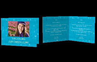 Einladungskarte Buchstabensalat