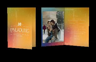 Einladungskarte Bunter Hintergrund