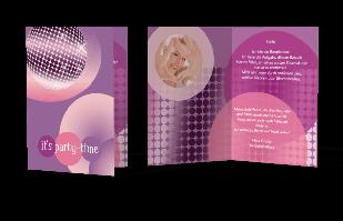 Einladungskarte - Discofeeling