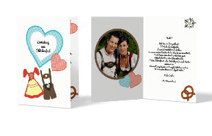 Einladungskarte - Dirndl, Tracht und Lederhose