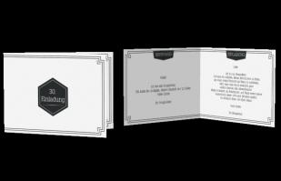 Einladungskarte Ecken und Streifen