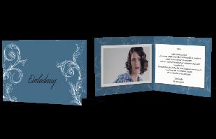 Einladungskarte mit edlem Muster