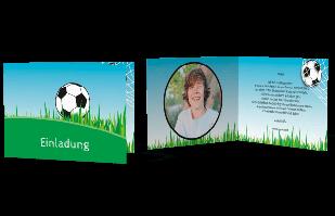 Einladungskarte - Fussballfieber