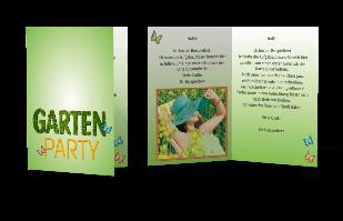 Einladungskarte - Gartenparty