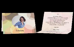 Einladungskarte - Harmonisches Farbspiel