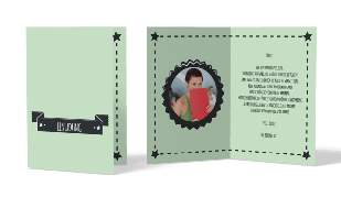 Einladungskarte Retrostars