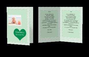 Einladungskarte - Streifen und Herzen