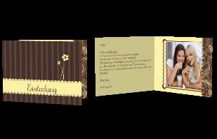 Einladungskarte - Verspielter Stil