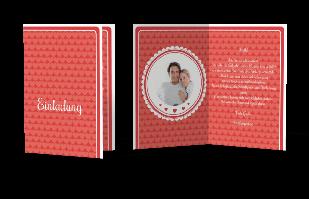 Einladungskarte Zarte Herzen