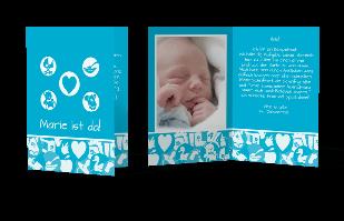 Einladungskarte - Baby-Buttons