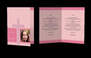 Einladungskarte Konfirmation Punktekreuz
