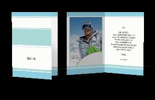 Einladungskarte - Streifen-Look